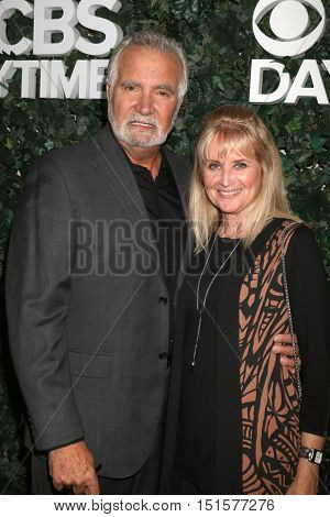 LOS ANGELES - OCT 10:  John McCook, Laurette Spang-McCook at the CBS Daytime #1 for 30 Years Exhibit Reception at the Paley Center For Media on October 10, 2016 in Beverly Hills, CA