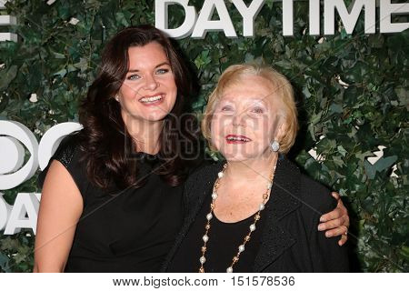 LOS ANGELES - OCT 10:  Heather Tom, Lee Phillip Bell at the CBS Daytime #1 for 30 Years Exhibit Reception at the Paley Center For Media on October 10, 2016 in Beverly Hills, CA