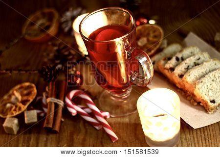 anti flu grog with orange cinnamon sugar