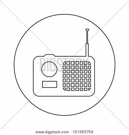 an images of radio icon illustration design