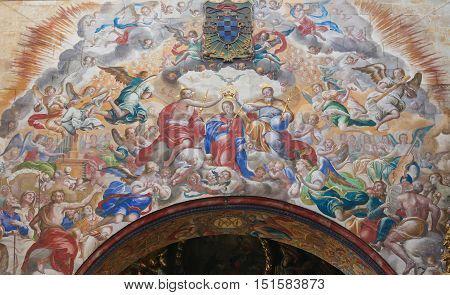 Fresco Of The Coronation Of Mary In The Convento De San Esteban, Salamanca