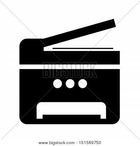 Copy Machine Multifunction printer icon illustration design