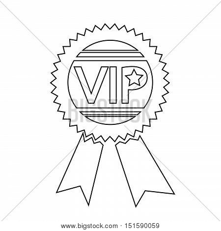an images of VIP icon illustration design