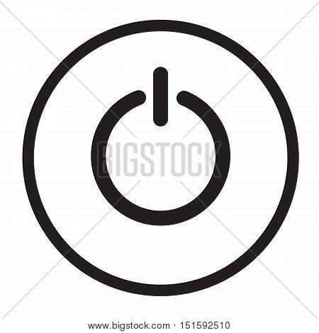 power icon on white background. power button