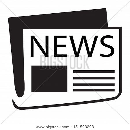 news icon on white background. news flat icon.