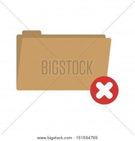 folder symbol to erased files vector illustration