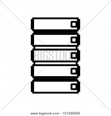 silhouette file cabinet with five floor vector illustration