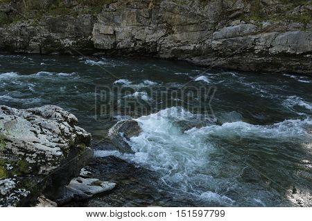 nature, mountain river, river, water, summer, rapids, fast water, Kazakhstan, the river UBA, UBA