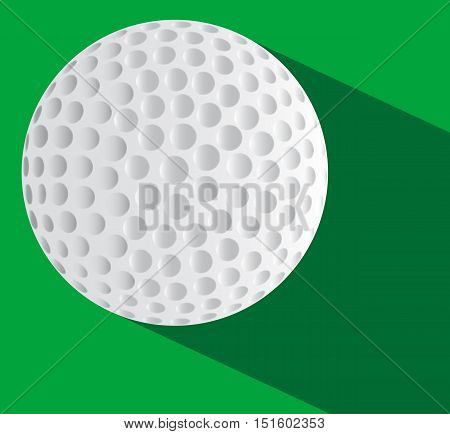 A new golf ball over a two tone green base