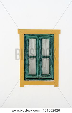 Colorful window in a typical Portugese house