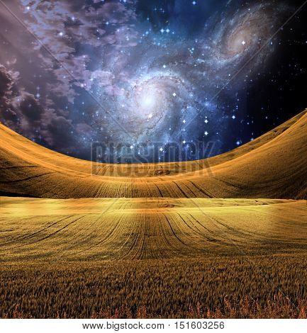 Landscape Some elements provided courtesy of NASA  3D Render
