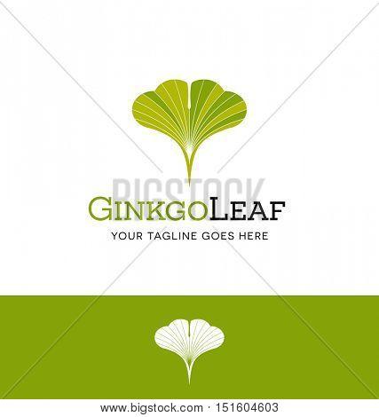 ginkgo leaf logo for creative business, organization or website