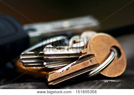 A detail on a bunch of keys