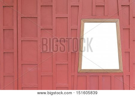 Background Texture of retro wood wall and isolated white window .
