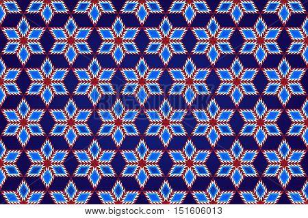 Abstract Geometric Stars Pattern Background Fabric Design