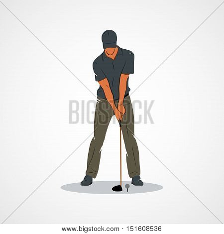 Golfer. Branding Identity Corporate logo design template Isolated on a white background. illustration.