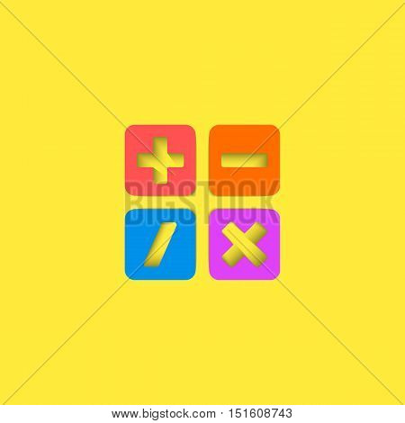 Mathematical symbols ui calculator logo mockup material design mathematics education icon