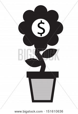 money growth.  Financial growth concept. money growth icon.