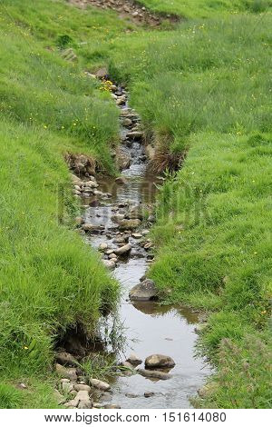 A Rambling Brook in a Rural Countryside Setting.
