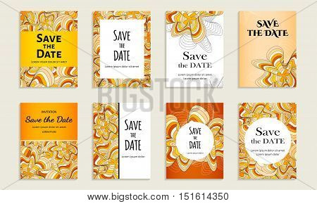 Set Of Cards With Inscription.