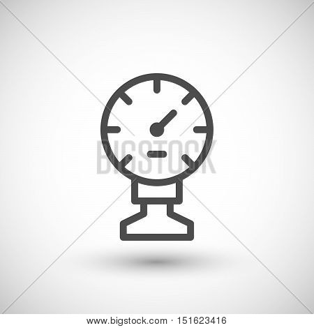 Manometer line icon isolated on grey. Vector illustration