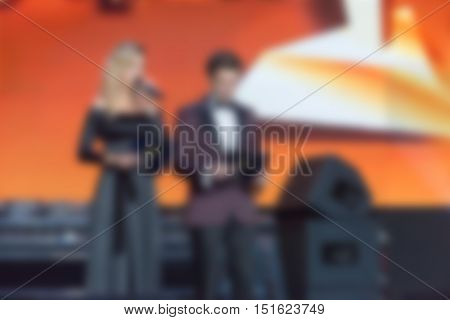 Award ceremony event theme creative abstract blur background with bokeh effect