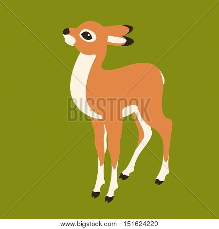 baby deer vector illustration style Flat profile