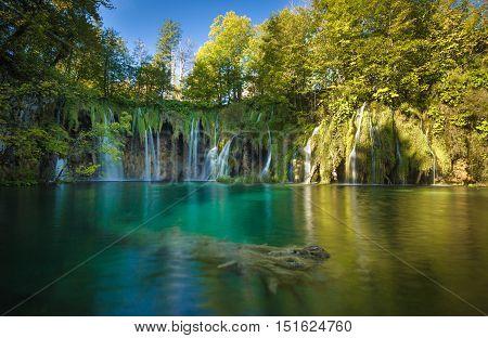 Plitvice Lakes National Park, Croatia. Unesco World Heritage Site.