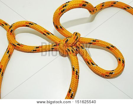 Yellow Rope With Some Nodes.
