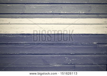 old wooden boards texture and background and white strip