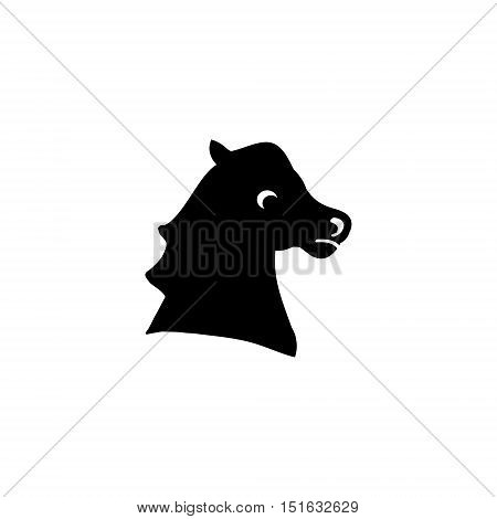 Silhouette of a horse's head. Logo riding or equestrian sports vector