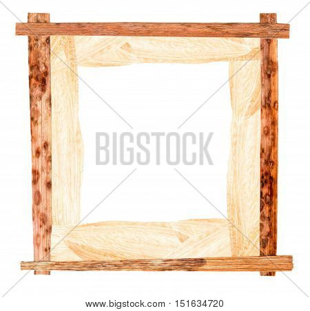 Passe-partout Of White Maize And Pressed  Iris  Wooden Frame