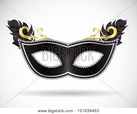Masquerade Carnival Mask Icon Vector Illustration EPS10