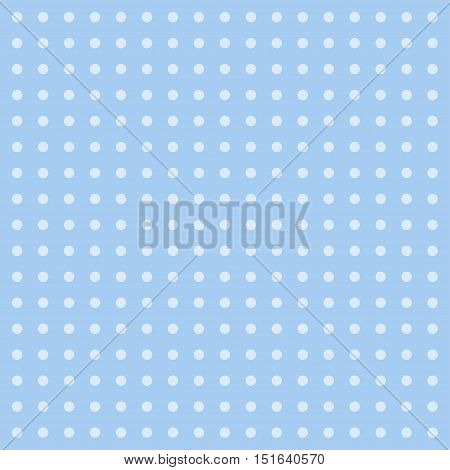 Polka dot background. Retro blue polka dot pattern
