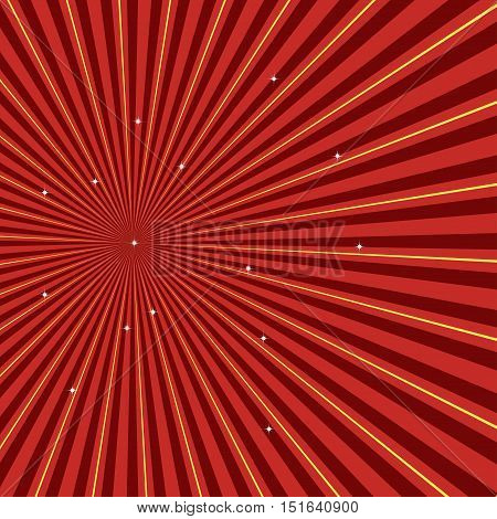 Sun rays. Retro style burst vector illustration