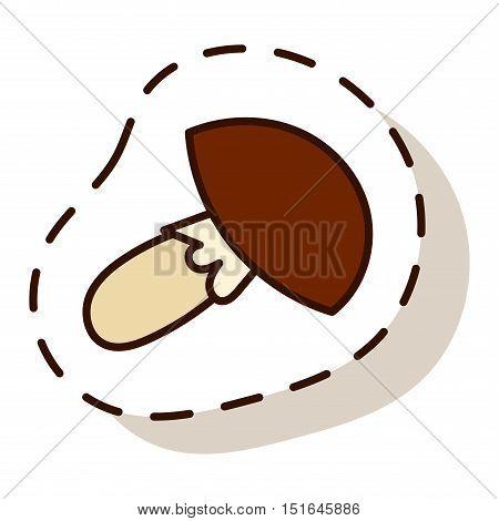 Mushroom Illustration isolated on white background. Mushroom vector illustrations symbol isolated. Mushrooms organic nature isolated vector