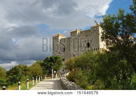Senj Croatia - a small town in northern Croatia located on the Adriatic coast. On the picture fortress Nehaj symbol of Senj. It was built in the second half of the sixteenth century to defend the city against the Turks.