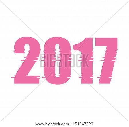 Happy new year 2017 text design vector creative graphic. Celebration greeting 2017 New Year text design party date. Eve decoration christmas season party 2017 holiday happy new year text.