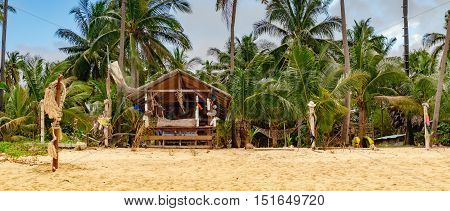 Place for relaxation in authentic asian Bungalow at the Maenam beach Koh Samui Thailand