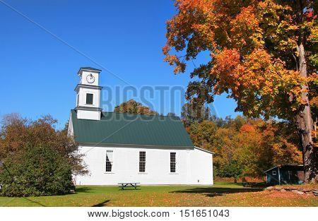 Small church in rural Vermont