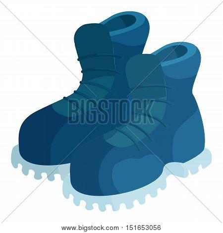 Pair of blue boots icon. Cartoon illustration of pair of boots vector icon for web