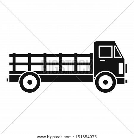 Truck icon. Simple illustration of truck vector icon for web