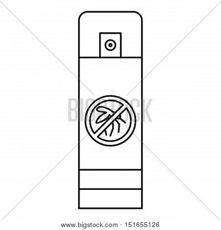 Mosquito spray bottle icon. Outline illustration of mosquito spray bottle vector icon for web