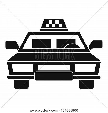 Taxi car icon. Simple illustration of taxi car vector icon for web