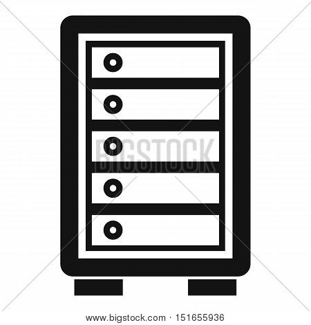 Security safe icon. Simple illustration of security safe vector icon for web