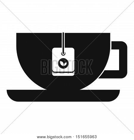 Cup of tea with tea bag icon. Simple illustration of cup of tea vector icon for web