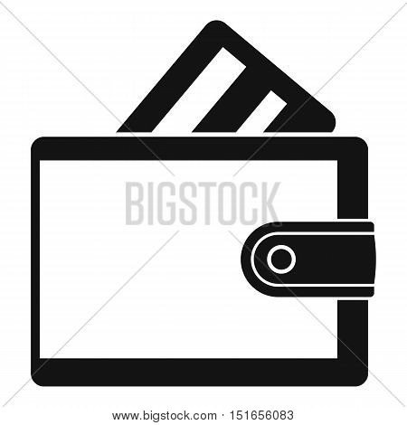 Wallet with credit card icon. Simple illustration of wallet with credit card vector icon for web