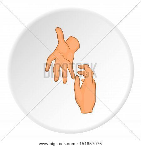 Handshake icon. Flat illustration of handshake icon vector logo for web