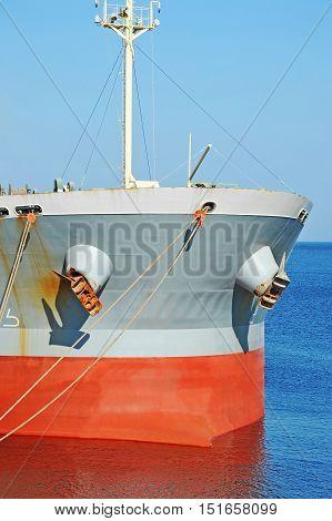 Bulk carrier ship in port of Odessa Ukraine