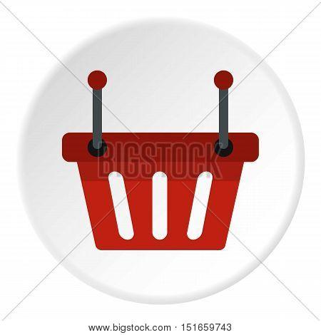 Shopping basket icon. Flat illustration of basket vector icon for web design